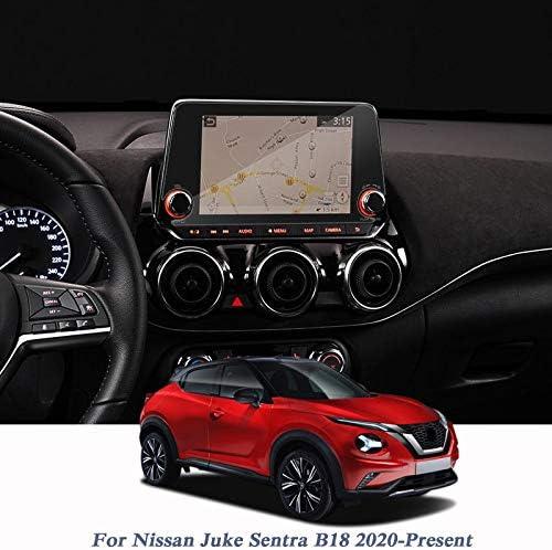 XHULIWQ 車のスタイリングフィルムGPSナビゲーションスクリーンガラスコントロールスクリーン、日産ジュークセントラB18 2020