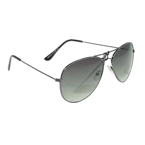 Gafas de sol de estilo aviador con bisagra con resorte, varios colores Schwarzer Rahmen / Dunkelgrün Gläser Talla única
