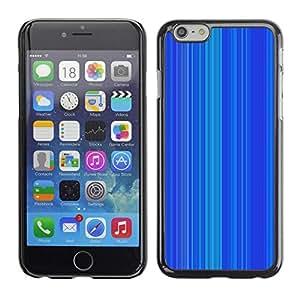 FECELL CITY // Duro Aluminio Pegatina PC Caso decorativo Funda Carcasa de Protección para Apple Iphone 6 Plus 5.5 // Stripe Pattern Vertical Lines
