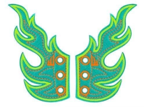 Shwings Ocean Neon Yellow Flames!! One Size Fits All