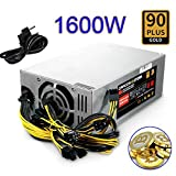 xlpace 1600W 1800W Bitcoin Mining Machine ATX Power Supply For BTC ETH Antminer S7 S9 D3 R4 (Style 2)