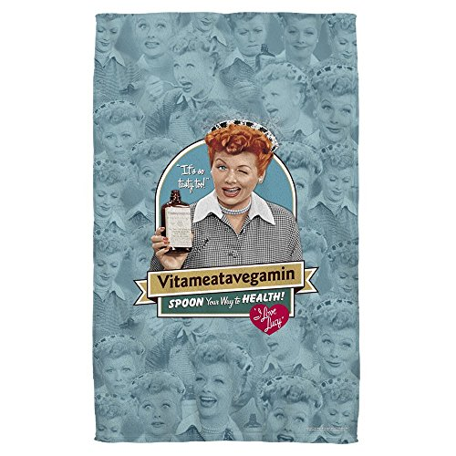 Lucy Towel Love I (Dongxu Vitameatavegamin - I Love Lucy - Beach Towel)
