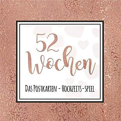 Postkarten 52 Wochen Hochzeits-Spiel (Rosé)