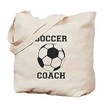 CafePress - Soccer Coach - Natural Canvas Tote Bag, Cloth Shopping Bag