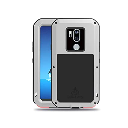 LG G7 Case,LG G7 ThinQ Case,Water Resistant Shockproof Aluminum Metal  [Outter] Super Anti Shake Silicone [Inner] Fully Body Protection with  Gorilla