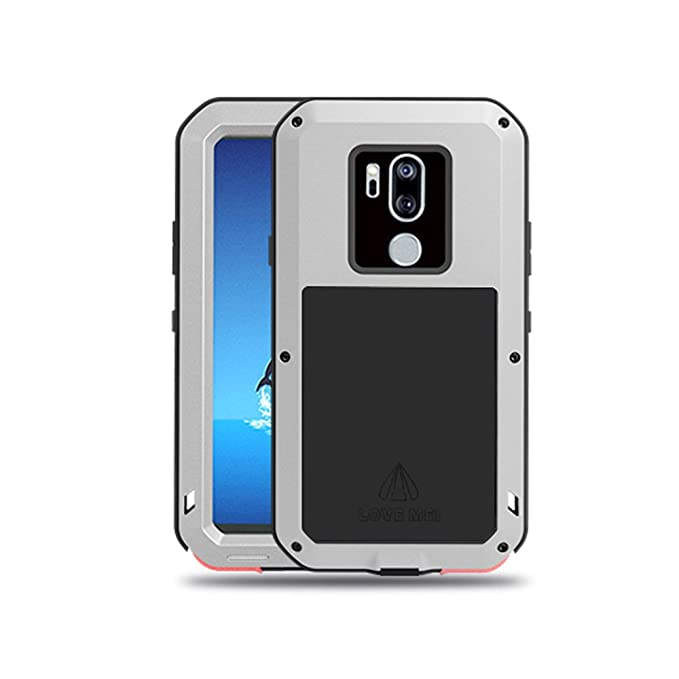 buy online d492b e0580 LG G7 Case,LG G7 ThinQ Case,Water Resistant Shockproof Aluminum Metal  [Outter] Super Anti Shake Silicone [Inner] Fully Body Protection with  Gorilla ...