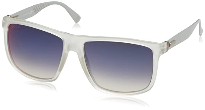 025c2cbfe9 Image Unavailable. Image not available for. Colour  Gucci Men s GG 1075 S  Crystal Palladium Dark Gray Infrared