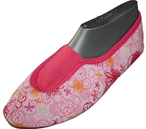 BECK zapatos de gimnasia para, deportivas, de corazón rosa no 231 schlãppchen Ristgummieinsatz rosa rosa Talla:34