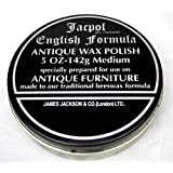 Jacpol Beeswax English Formula Antique Furniture Wax Polish Medium 5oz 142g (medium - 220g)