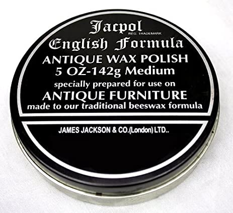 Jacpol Beeswax English Formula Antique Furniture Wax Polish Medium 5oz 142g  (medium - 220g) - Amazon.com: Jacpol Beeswax English Formula Antique Furniture Wax
