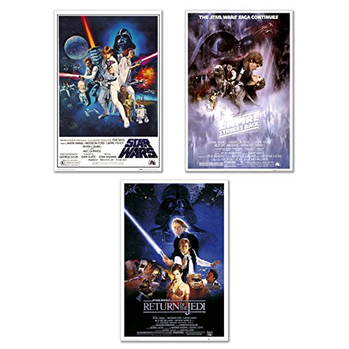 Star Wars Episode IV, V & VI - 3 Piece Movie Poster / Print