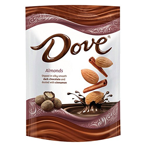 Dove Almonds With Cinnamon and Dark Chocolate Candy Bag, 5.5 Oz by Dove