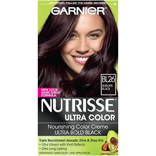 Garnier Nutrisse Ultra Color Nourishing Hair Color Creme, BL26 Auburn Black (Packaging May - Hair Garnier Auburn Color