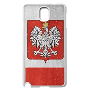 Samsung Galaxy Note 3 Cell Phone Case White Poland Flag Distressed SUX_042860