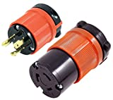 l6 20 plug - AC WORKS [ASL620PR] NEMA L6-20 20Amp 250Volt 3Prong Locking Male Plug and Female Connector UL, C-UL Approval