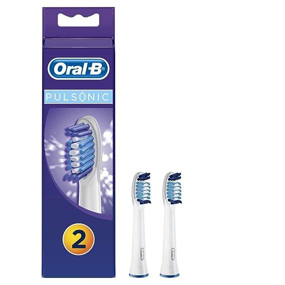 Oral-B - Pack de 2 cabezales para cepillos de dientes recargables - Pulsonic y Pulsonic Slim SR32: Amazon.es: Salud y cuidado personal