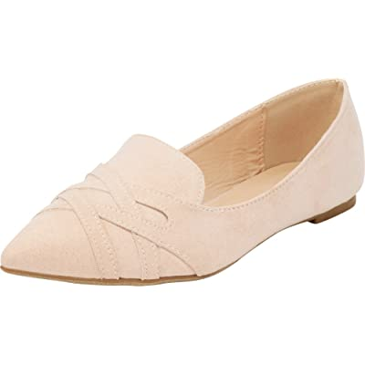 Amazon.com | Cambridge Select Women's Pointed Toe Smoking Driving Slip-On Loafer Flat | Shoes