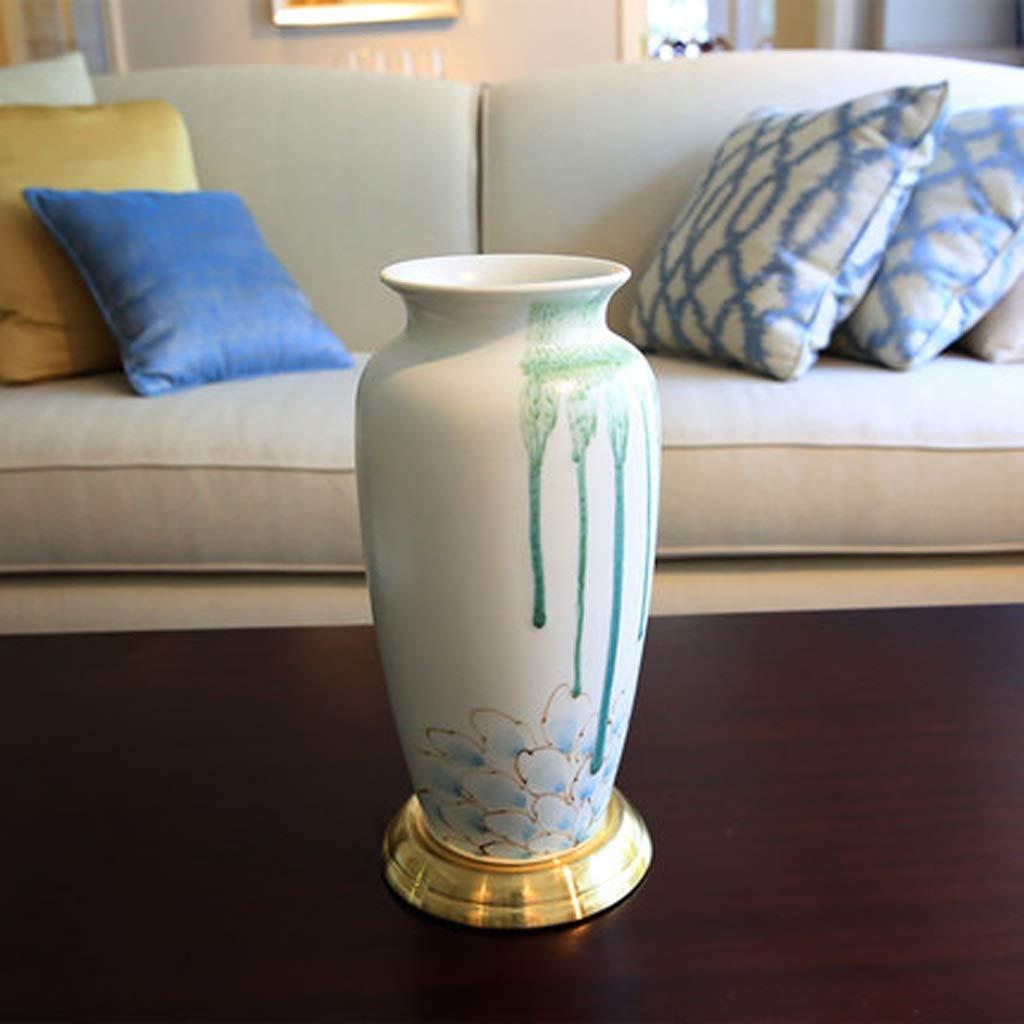 HBJP 古典的な蓮の花金花瓶デスクトップ花瓶装飾飾り 花瓶 (サイズ さいず : 33cm*15cm) B07S7946DH  33cm*15cm