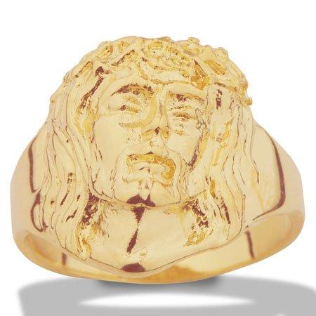Baguehomme -Jésus Christ -or jaune 18 carats750/1000