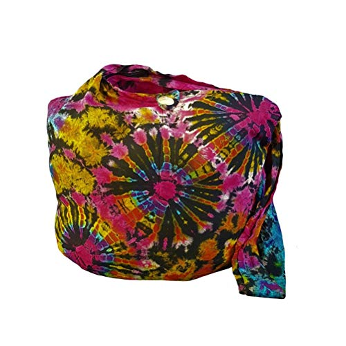 BTP! Tie Dye Sling Crossbody Shoulder Bag Messenger Purse Hippie Hobo Bohemian Triple Firework VK19