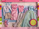Barbie 6 FASHIONS Gift Pack BRIGHT COLORFUL STYLES! (2003)