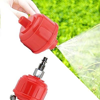 Freebily 5PCS Plastic Red Standard Disposable Inline Air Moisture Filters Oil Water Separator Spray Gun