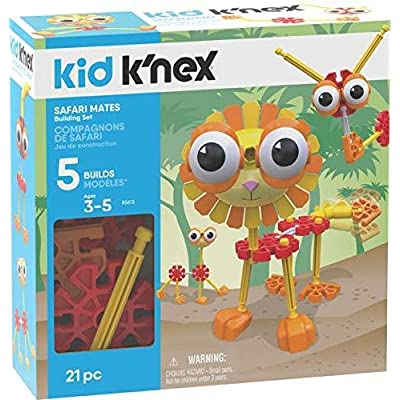 K'NEX Kid Safari Mates Building Set - 21 Pieces - Ages 3+ - Preschool Educational Toy: Toys & Games