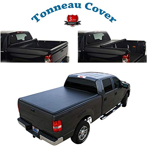 Deebior for 2017-now Honda Ridgeline Lock & Roll Up Soft Tonneau Cover Top Mount Assembly w/Rails Direct Clamp-On Cover