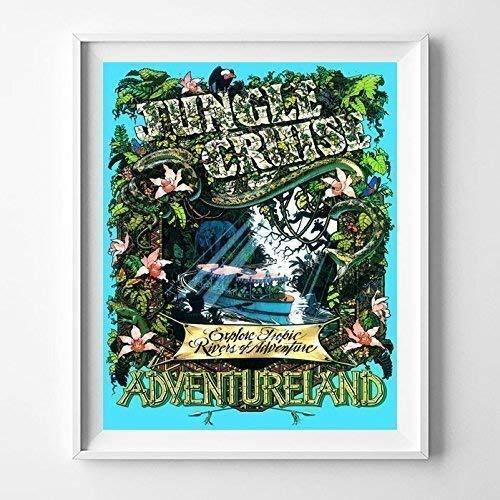 Amazoncom Disneyland Jungle Cruise Adventureland Home Decor Print