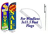 Best Buys Here Blowout Sale King Windless Flag w/Kit-Pack of 2