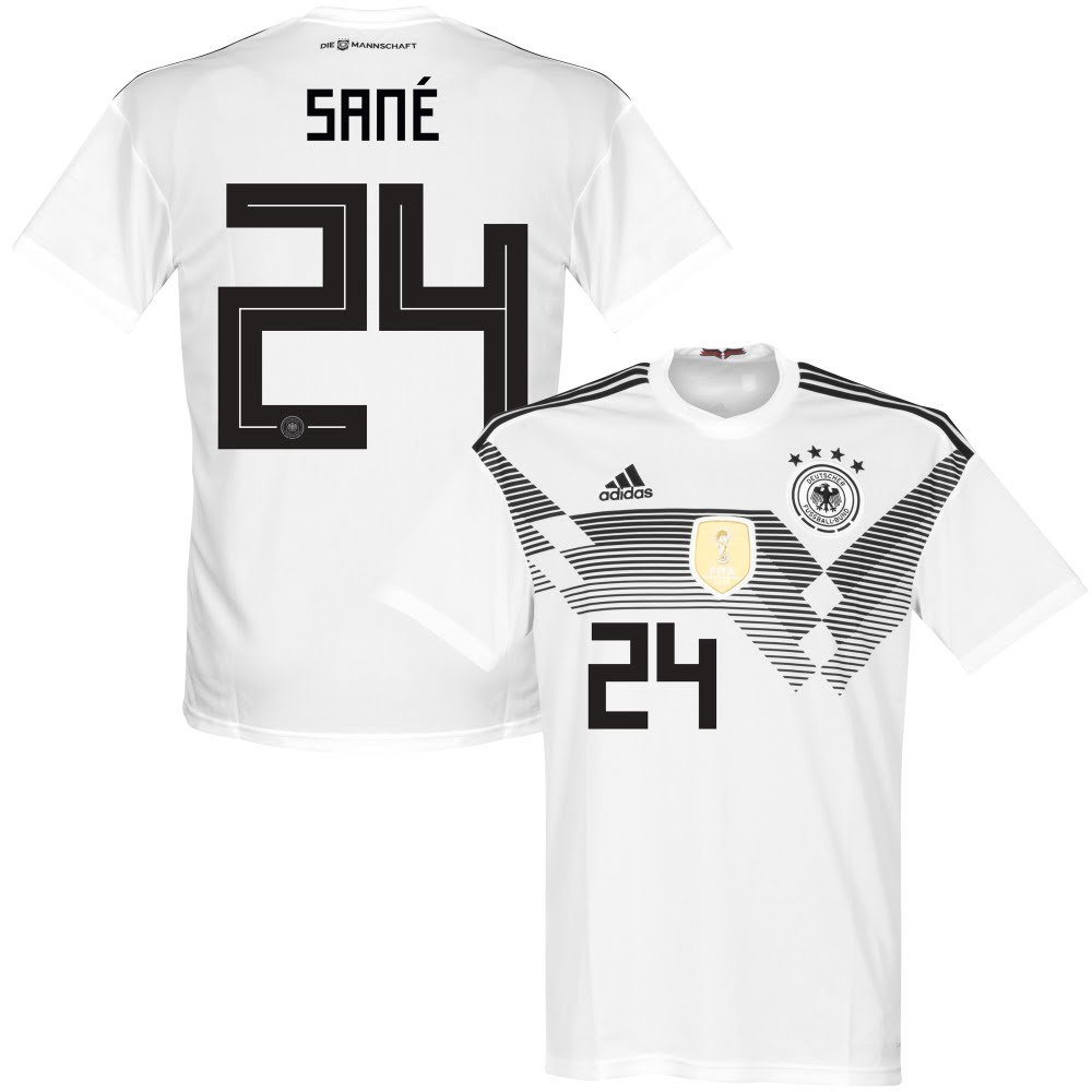 Deutschland Home Trikot 2018 2019 + Sané 24 - XL