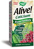 Nature's Way Alive!®  Calcium Bone Formula Supplement (1,000mg per serving), 60 Tablets