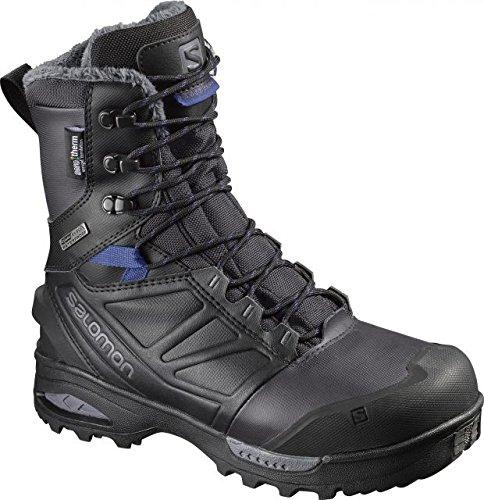 SALOMON Women's Toundra Pro CSWP Snow Boots, Phantom/Black/Amparo Blue, 9.5