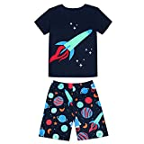Tinaluling ''Rockets'' boys summer short sleeve pijamas cotton sleepwear boys pyjamas pajama (7 years)