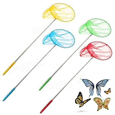 Tanchen Outdoor Extendable Butterfly Net Insect Bug Fishing Nets Tools Garden Kids Child Toy