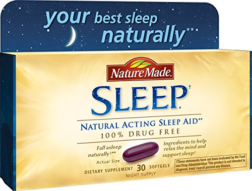 Nature Made Soft Gel Natural Sleep Aid, 30 Softgels