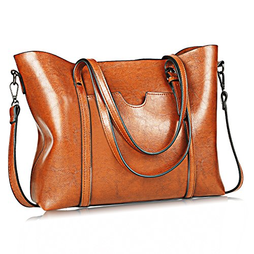 Women Bag Casual Vintage Shoulder Bag Handbags Cross Body Bag Large Capacity Bags Brown JUNDUN by JUNDUN