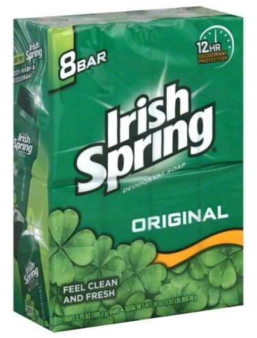 Irish Spring Deodorant Soap Original - 8 Ct