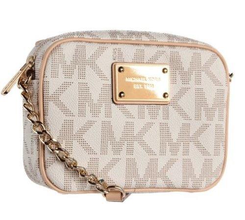MICHAEL Michael Kors Mk Logo Crossbody Bag,Vanilla,one size