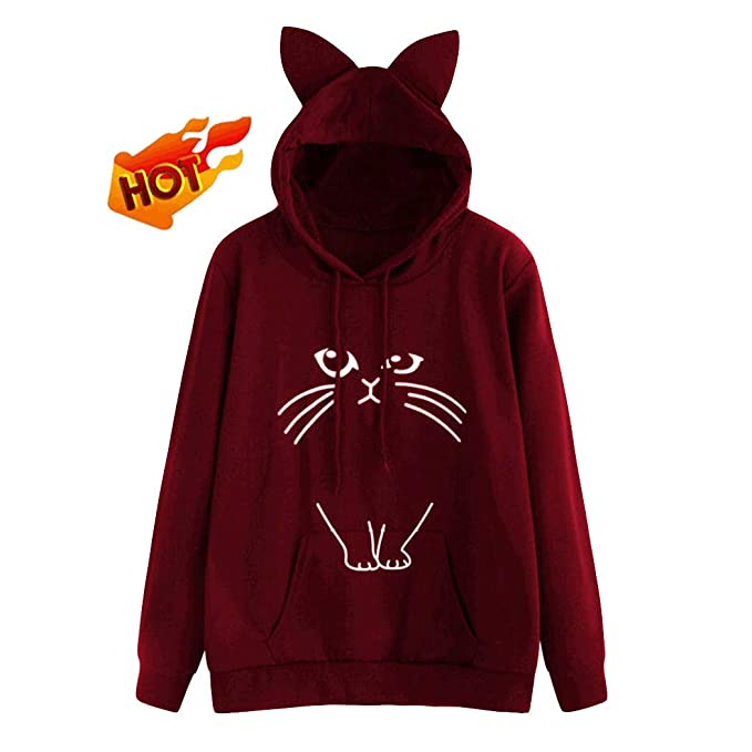 Women Sweatshirt For Teen Girl Yonlanclot Long Sleeve Soild Color Polluver Cute  Autumn Winter Sweater Sport Sweater Tops Blouse Hoodies Shirt   Amazon.co.uk  ... 55450c6d1