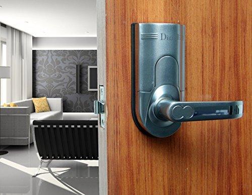 Assa Abloy Digi Electronic Biometric Fingerprint + Keypad Password Door Lock Set Intersected Chrome 6600-86 (Right Hand Door) Assa Abloy Digi