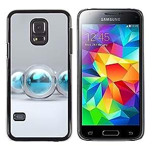 Be Good Phone Accessory // Dura Cáscara cubierta Protectora Caso Carcasa Funda de Protección para Samsung Galaxy S5 Mini, SM-G800, NOT S5 REGULAR! // aqua water winter Christmas dec