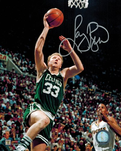 Larry Bird Signed Celtics Action Lay-Up 8x10 ()