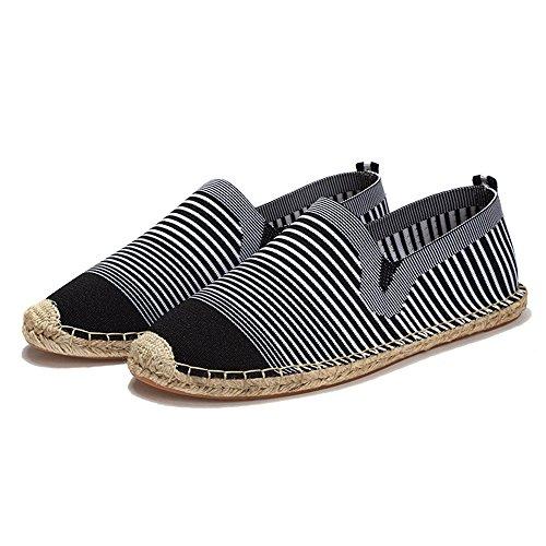 Alden Moccasins - Canvas Mens Loafers Fashion Handmade Moccasins Soft Casual Slip On Croc Men's Boat Shoes (Red 41/10 B(M) US Women / 7.5 D(M) US Men)