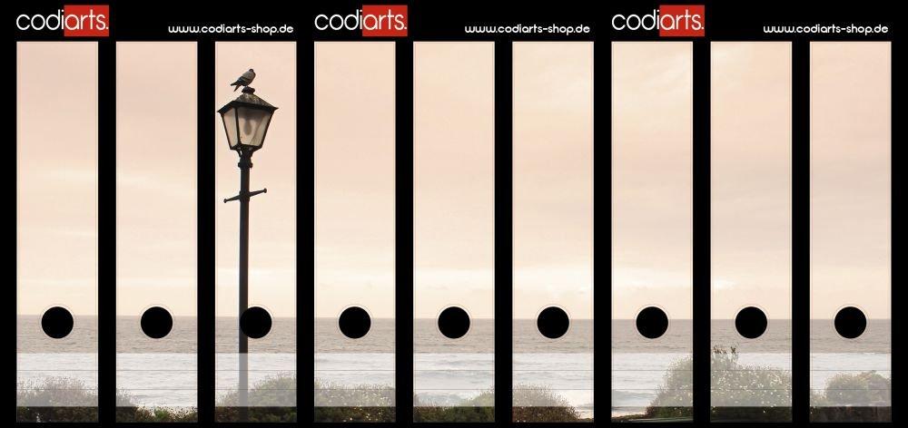 codiarts Set 9pezzi raccoglitori di etichette autoadesive Costa (raccoglitori di Sticker) Lanterna & Uccello codiarts.