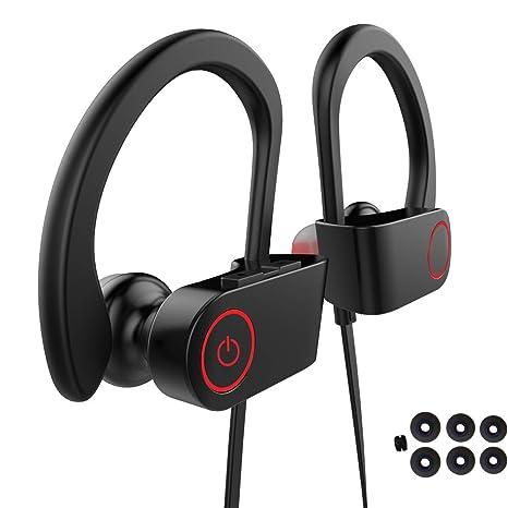 Auriculares Manos Libres Bluetooth Deportivos, 110 mAh Batería de 8 Hrs Sweatproof Cascos Inalámbricos: Amazon.es: Electrónica