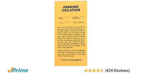 Parking Permit for the Officially Retired People Gag Gift Party Favor  7-5B
