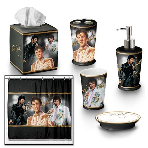 The Elvis Presley Bath Ensemble 6-Piece Accessories Set - By The Bradford Exchange