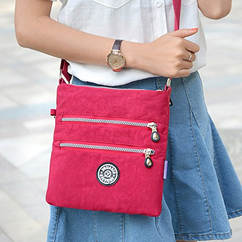 Outreo Lightweight Women Bag Cross Casual Body Black Waterproof Shoulder Fashion for Bag Bag Girls Satchel Sport Messenger rqpxrwdYI
