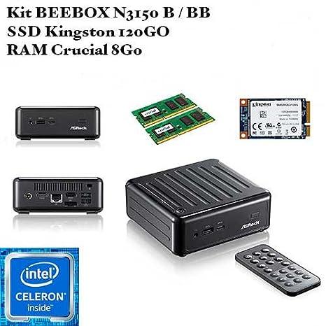 ASRock Beebox N3150 - SSD Kingston 120 GB - RAM Crucial 8 GB ...
